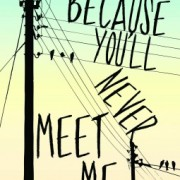 Paola Reviews {Because You'll Never Meet Me by Leah Thomas}